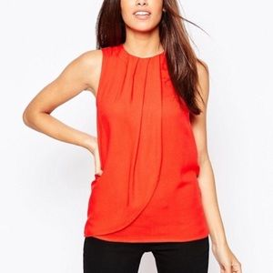 NWT ASOS red layered tank top